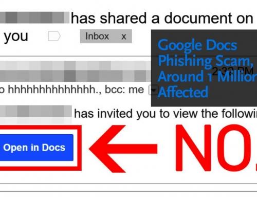 Google Docs Phishing Scam Affects Around 1 Million Users.