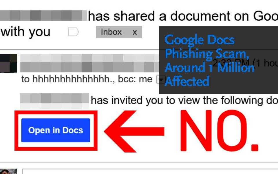 Google phishing scam say no